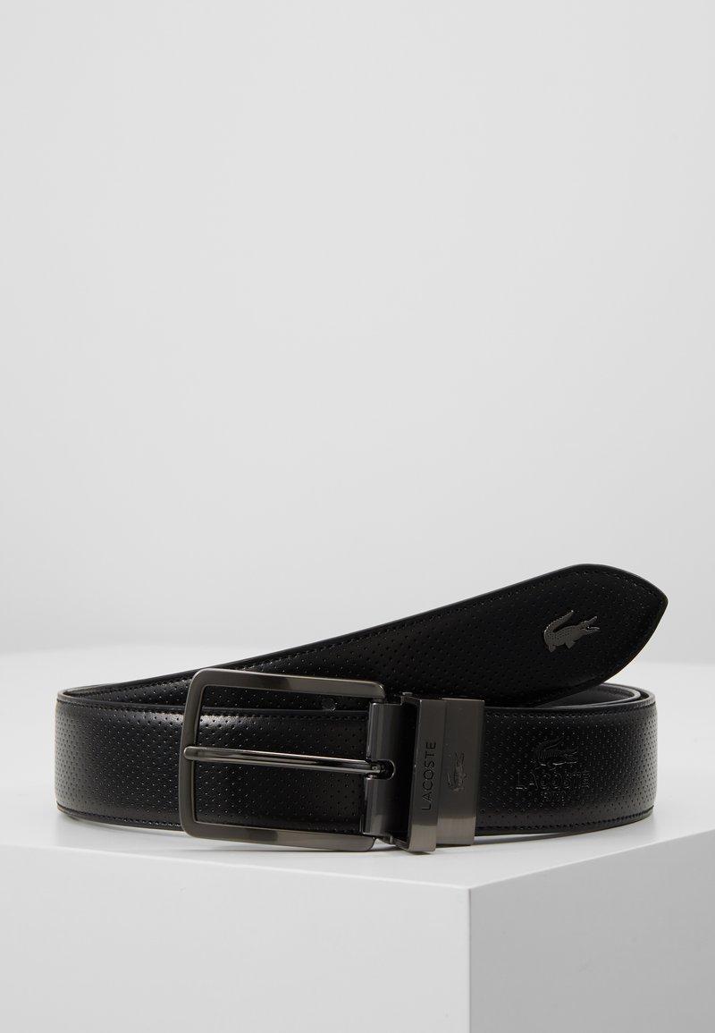 Lacoste - REVERSIBLE CURVED STITCHED EDGES - Pásek - black