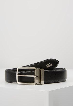 CURVED STITCHED EDGES - Pásek - black