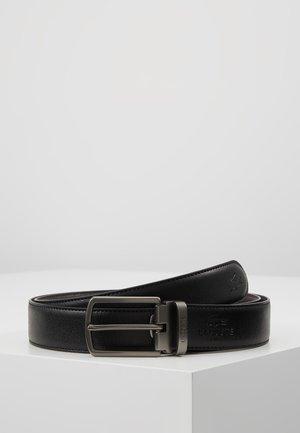 REVERSIBLE CURVED BOX SET - Pásek - black/dark brown