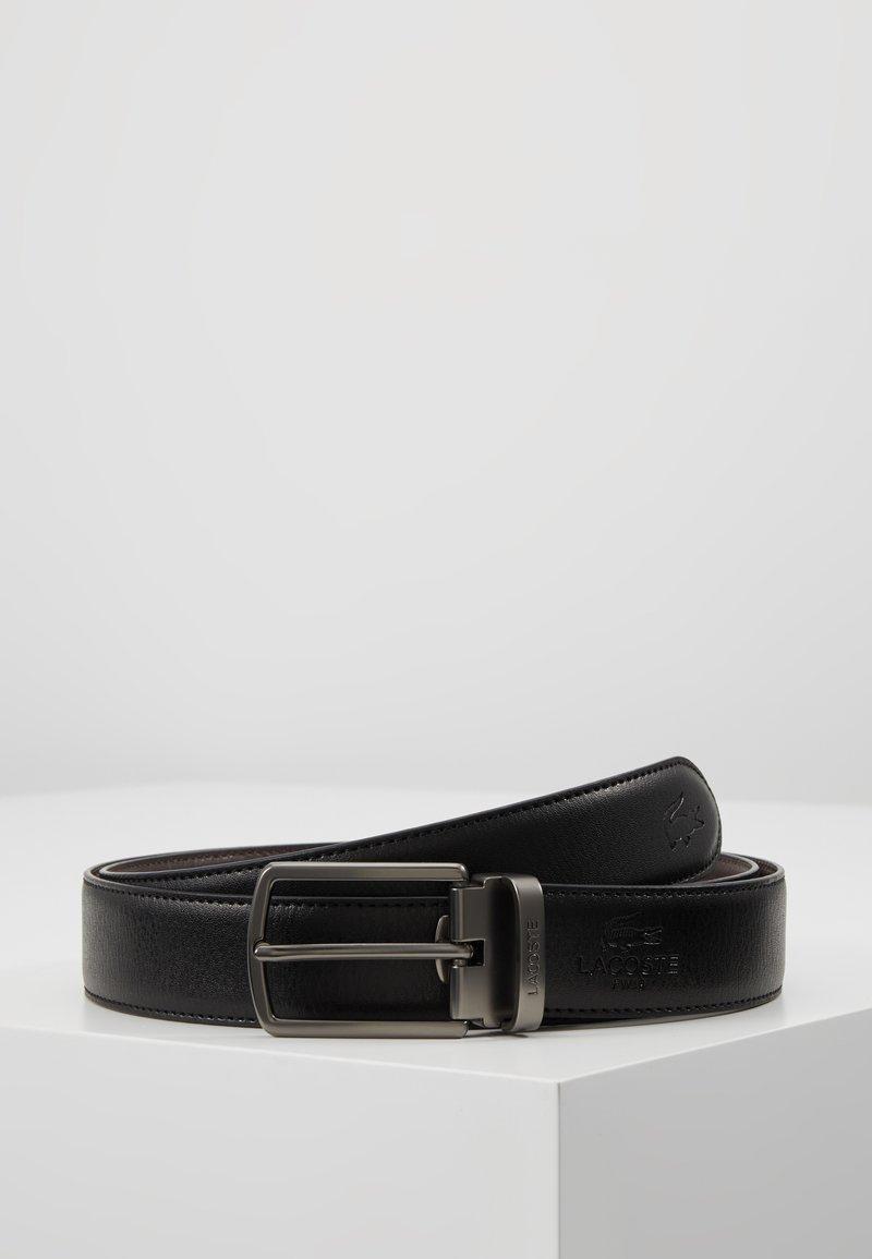 Lacoste - REVERSIBLE CURVED BOX SET - Pásek - black/dark brown