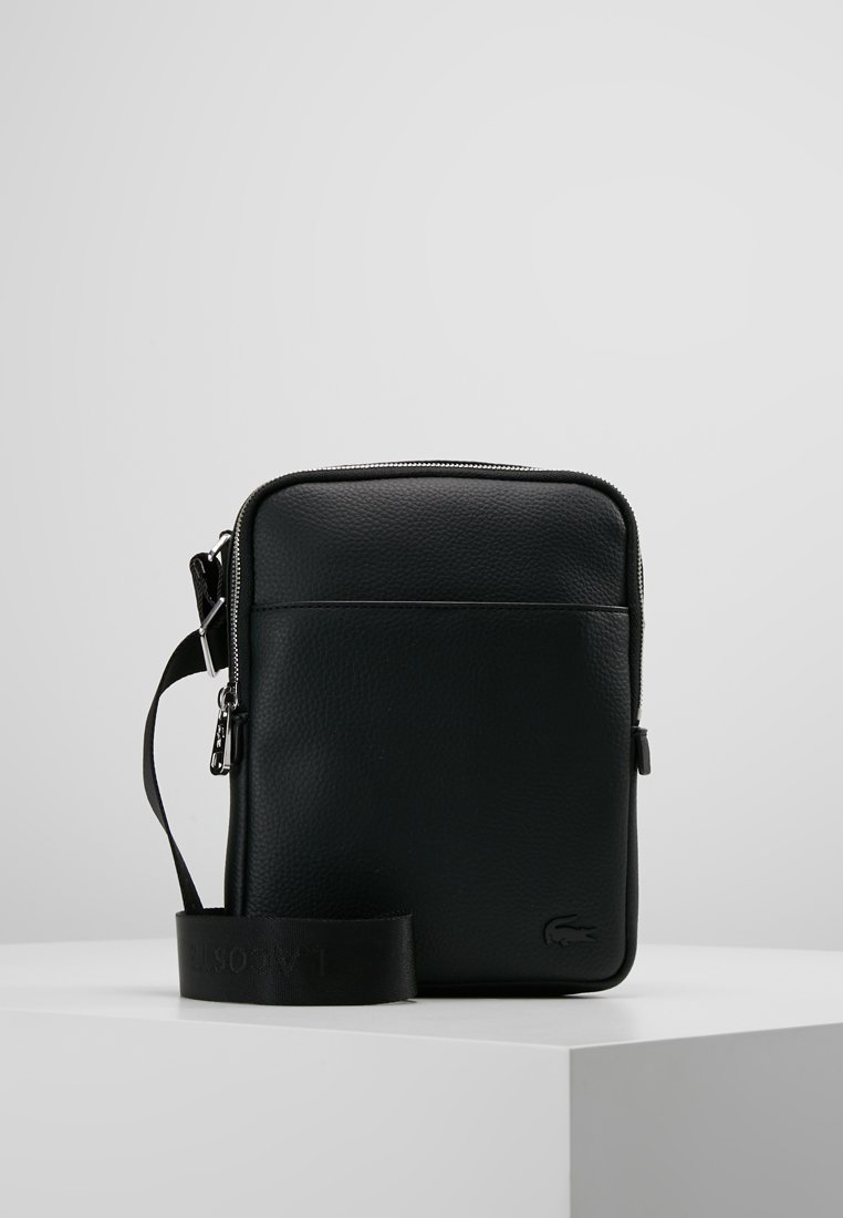 Lacoste - FLAT CROSSOVER BAG - Across body bag - black