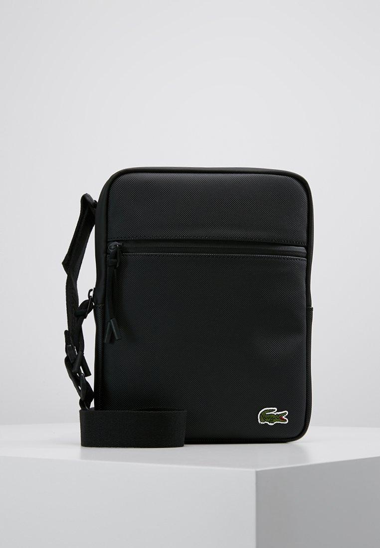 Lacoste - FLAT CROSSOVER BAG - Across body bag - black