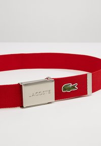 Lacoste - 40 WOVEN STRAP IN KIT RC2012 - Belt - red - 3