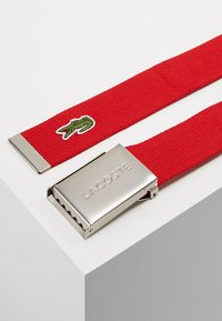 Lacoste - 40 WOVEN STRAP IN KIT RC2012 - Belt - red - 2
