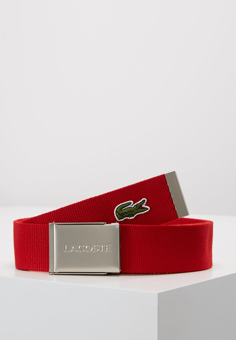 Lacoste - 40 WOVEN STRAP IN KIT RC2012 - Belt - red