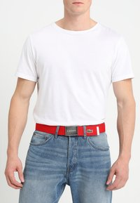 Lacoste - 40 WOVEN STRAP IN KIT RC2012 - Belt - red - 1
