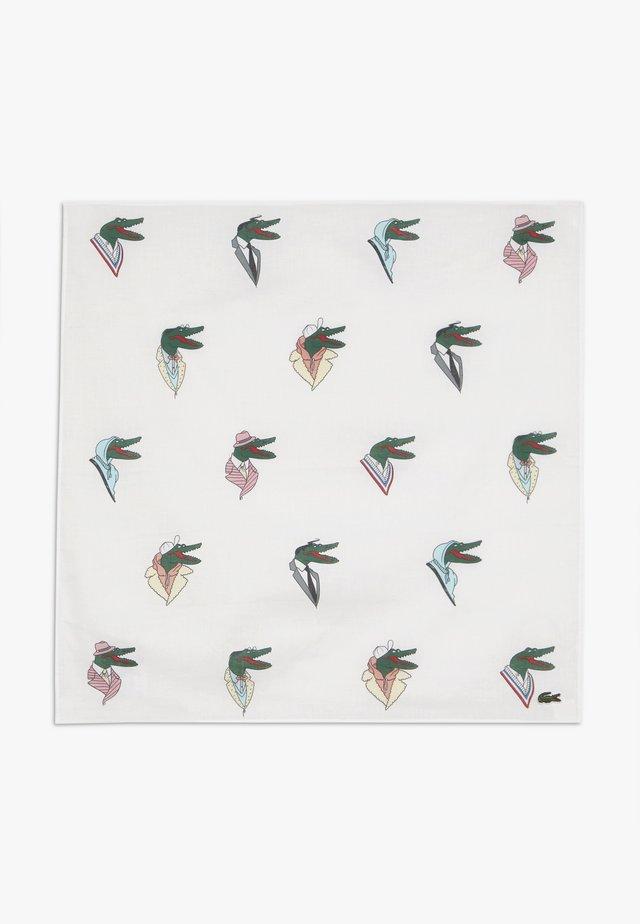 LACOSTE X JEAN-MICHEL TIXIER CROC BANDANA HEADBAND - Foulard - white/multico