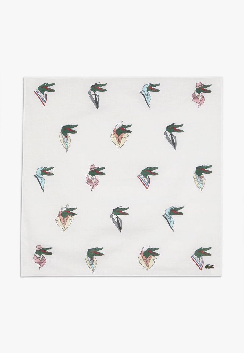 Lacoste - LACOSTE X JEAN-MICHEL TIXIER CROC BANDANA HEADBAND - Šátek - white/multico