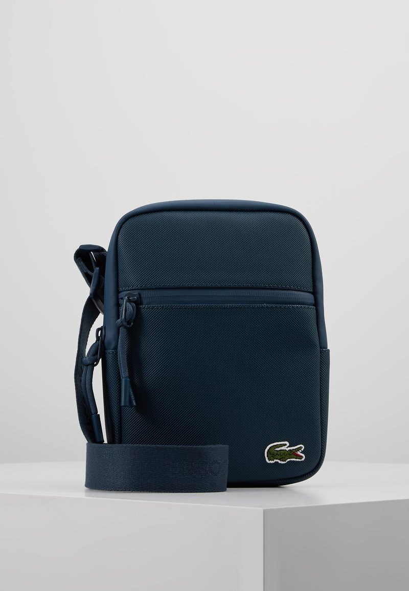 Lacoste - FLAT CROSSOVER BAG - Across body bag - reflecting pond