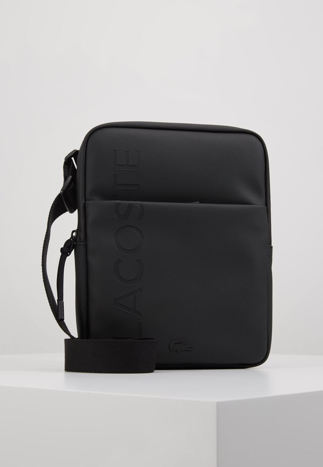 FLAT CROSSOVER BAG - Umhängetasche - black