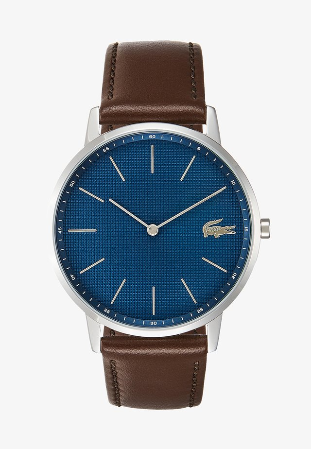 MOON - Reloj - silver-coloured/blue/brown