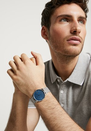 MOON - Watch - silver-coloured/blue