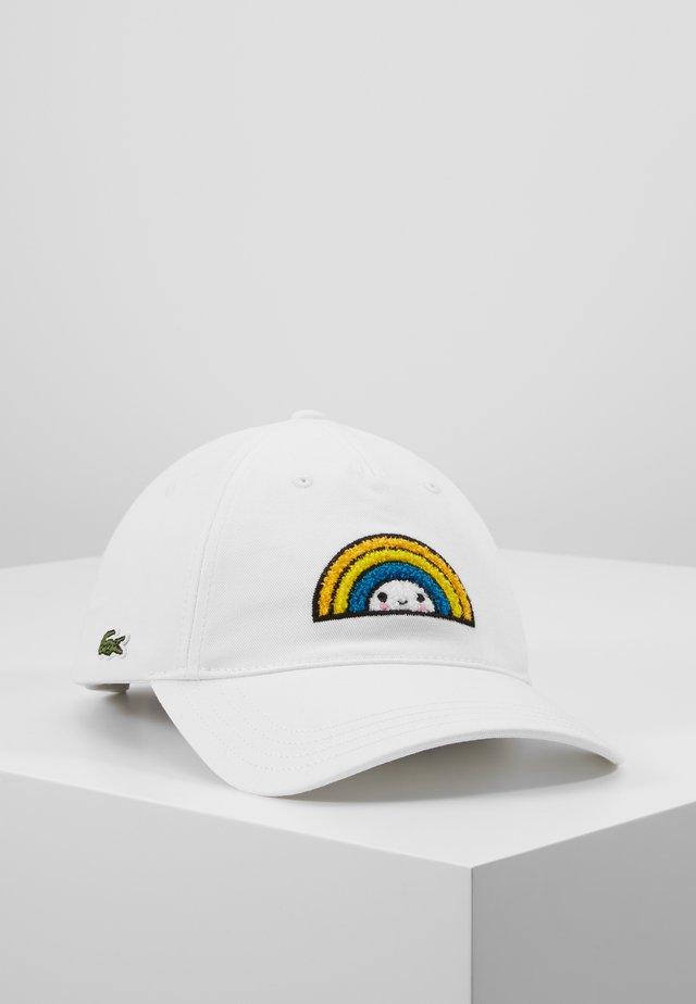 Lacoste x FriendsWithYou Cotton Print Cap - Caps - white