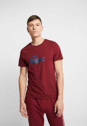 SHORT SLEEVE TEE - Pyjama top - burgundy