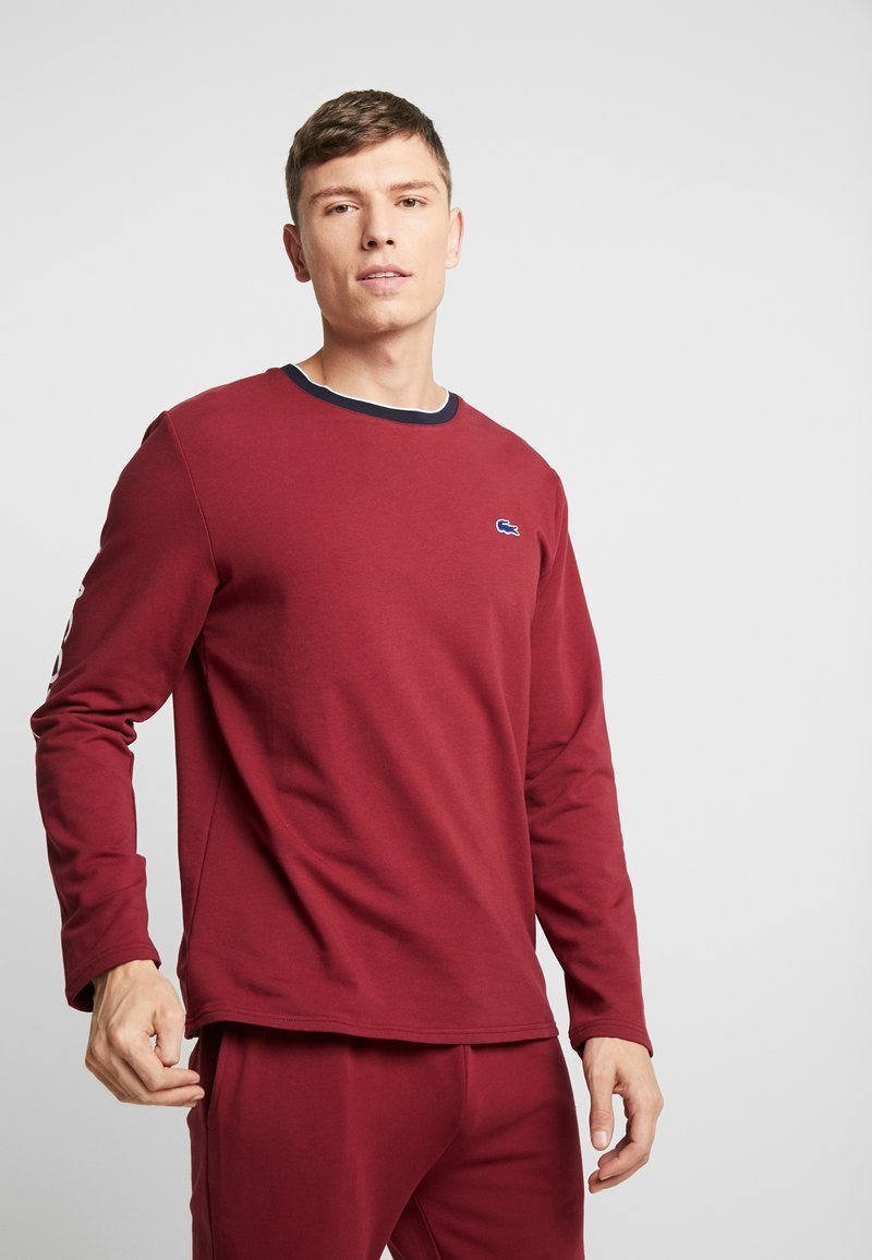 Lacoste - LONG SLEEVE CREWNECK - Nachtwäsche Shirt - dark red