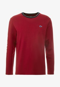 Lacoste - LONG SLEEVE CREWNECK - Nachtwäsche Shirt - dark red - 4