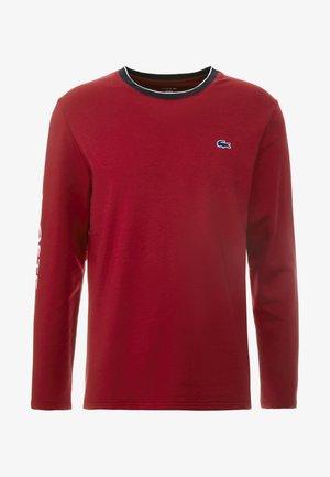 LONG SLEEVE CREWNECK - Pyjama top - dark red
