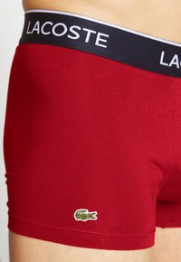 Lacoste - 3 PACK - Shorty - navy blue/red methylene
