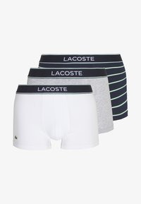 Lacoste - 3PACK - Shorty - silver chine/white/navy blue - 5