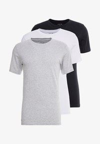 Lacoste - SLIM FIT TEE 3 PACK - Unterhemd/-shirt - black/mottled grey/white - 3