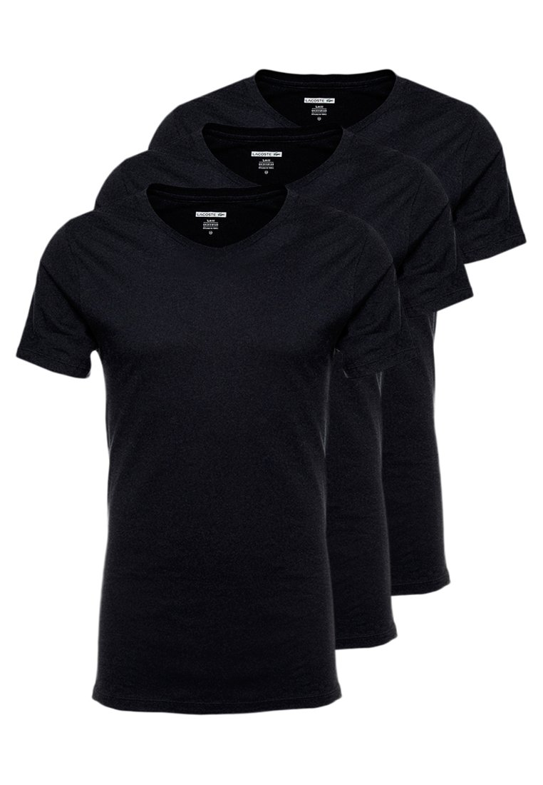 Lacoste - SLIM FIT TEE 3 PACK - Undertröja - schwarz