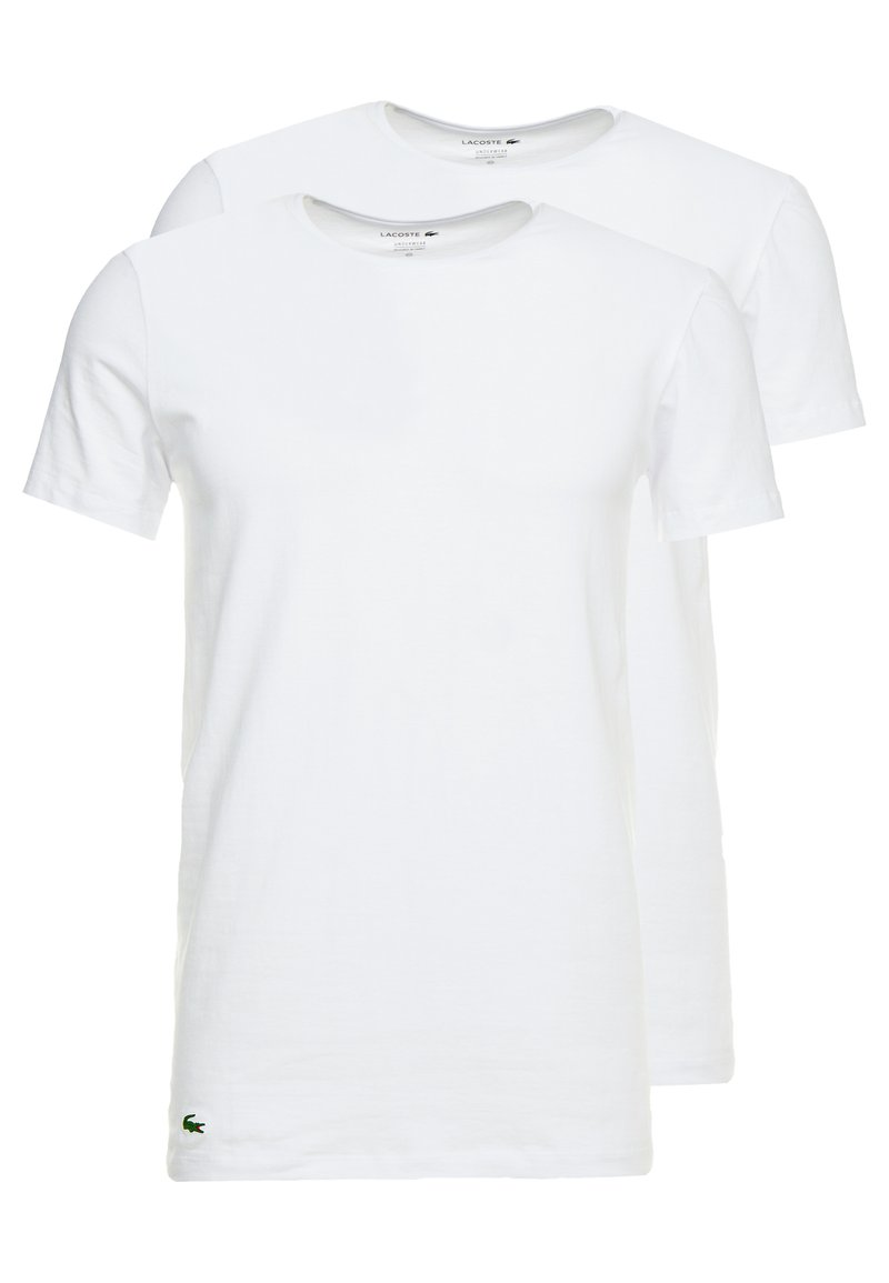 Lacoste - SLIM FIT CREW NECK TEE 2 PACK - Undertröja - white