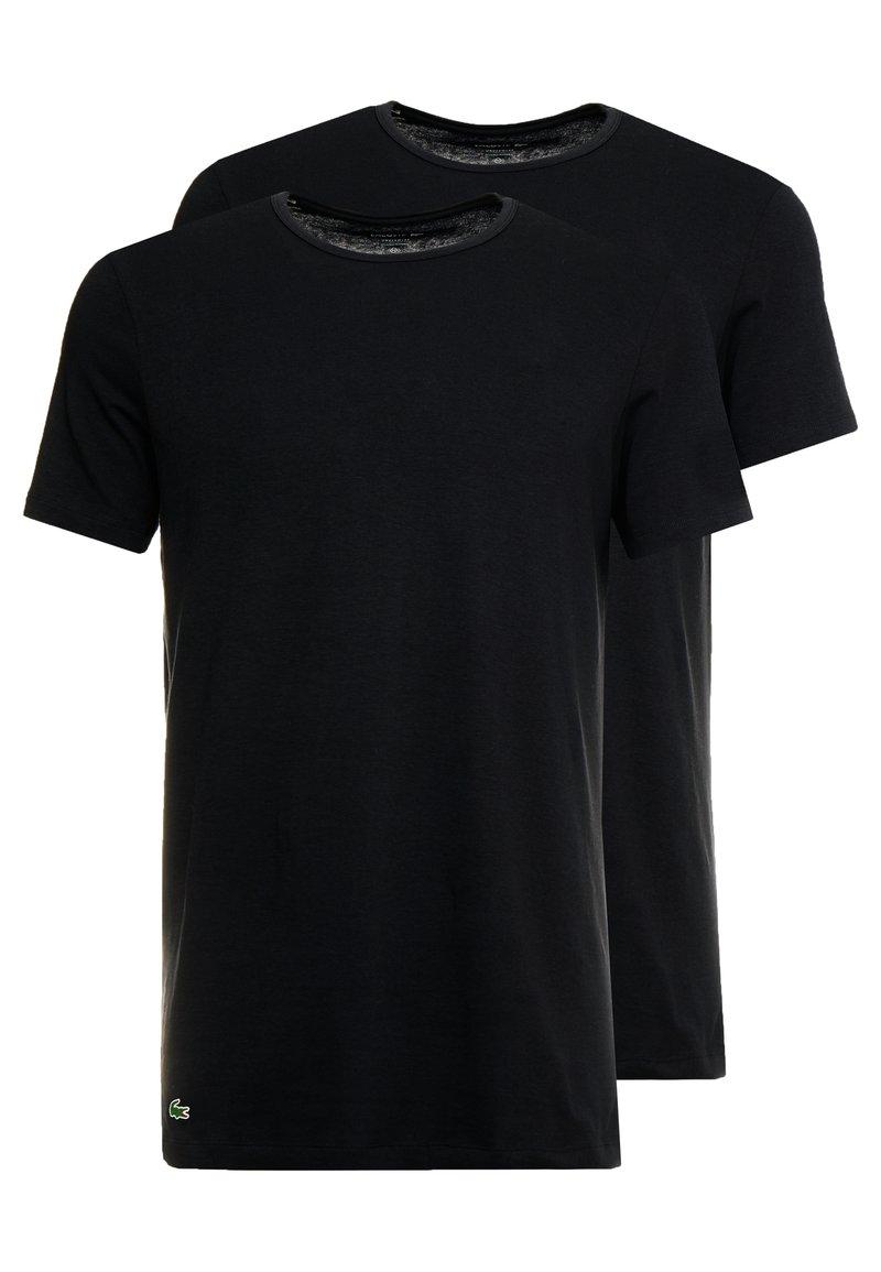 Lacoste - SLIM FIT CREW NECK TEE 2 PACK - Undertröja - black