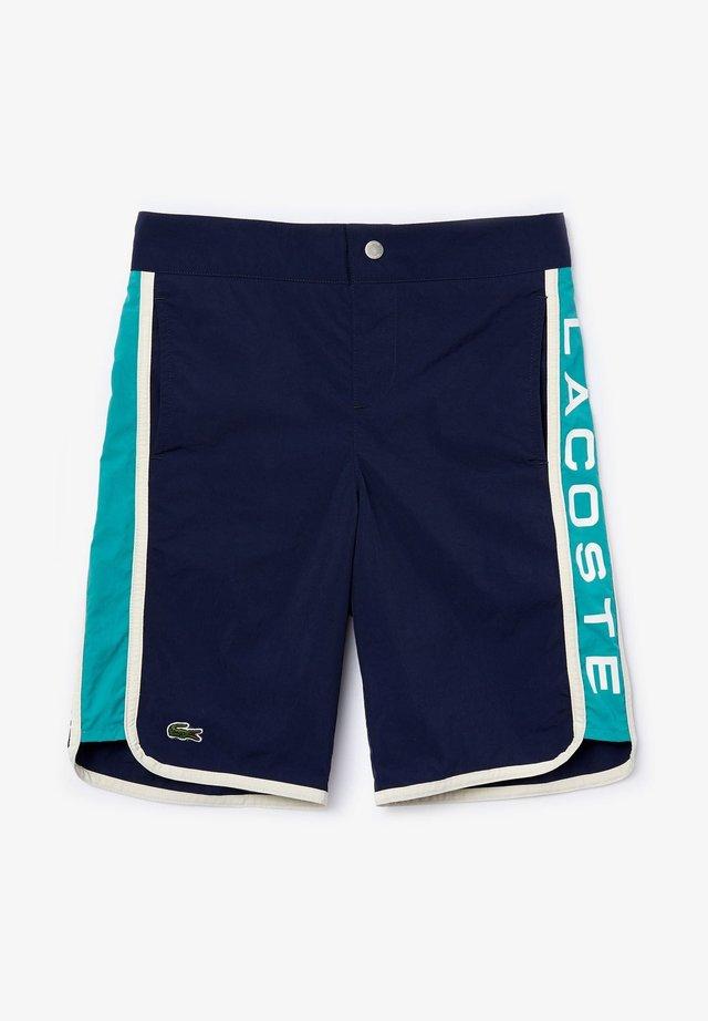 MJ4772 - Swimming shorts - bleu marine / vert / blanc