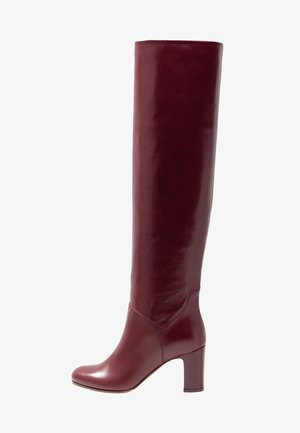 Over-the-knee boots - bordeaux