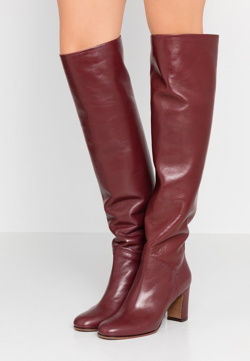 L'Autre Chose - Over-the-knee boots - bordeaux