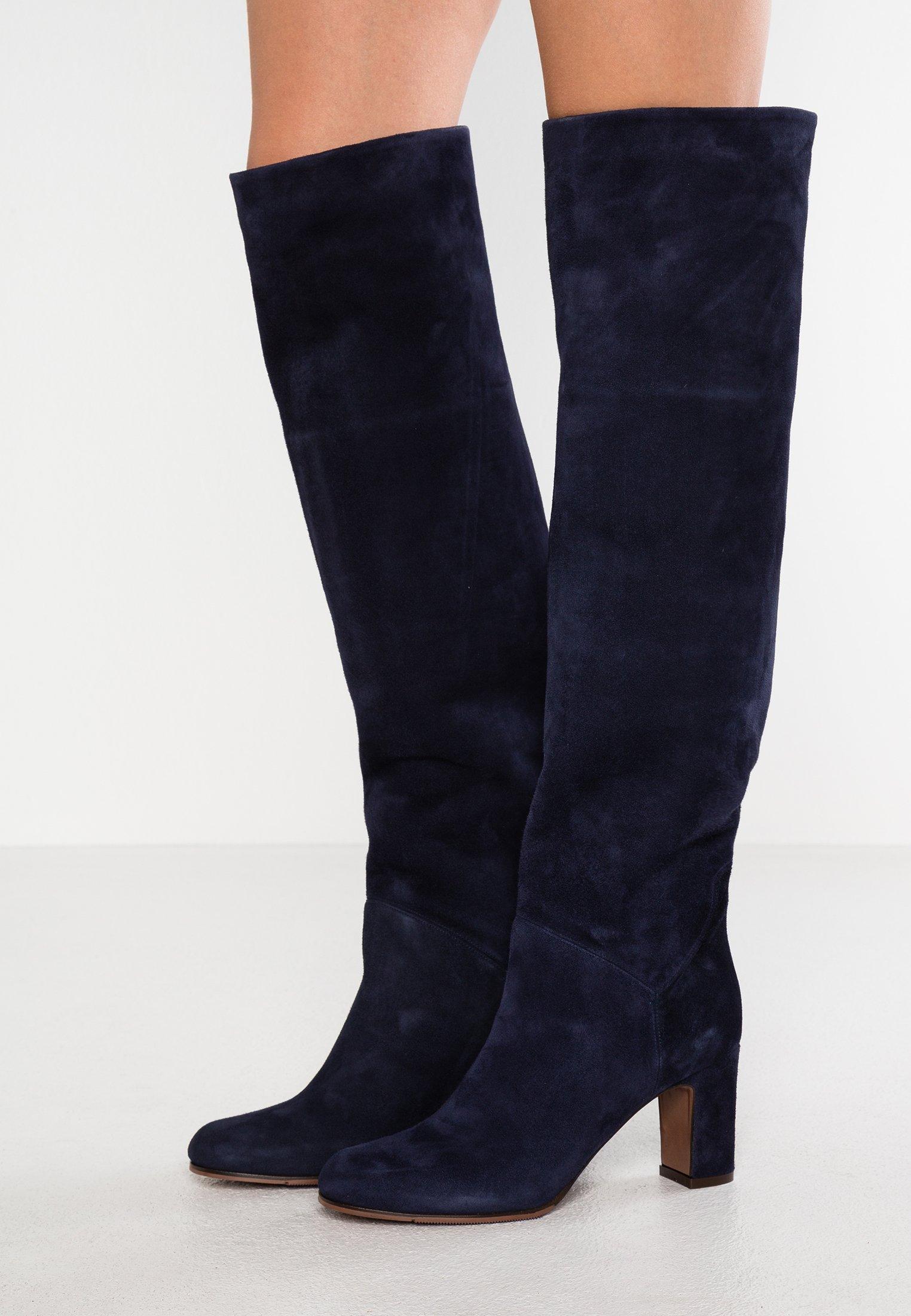 L' Autre Chose Stivali alti neri con dettaglio bianco