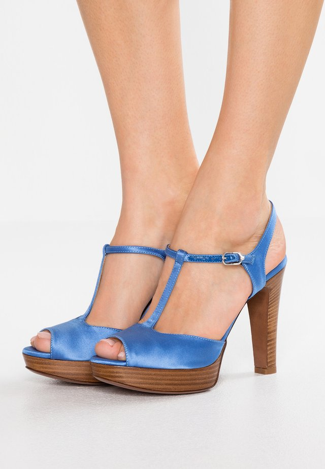 High heeled sandals - deep blue