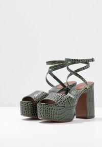 L'Autre Chose - High heeled sandals - sage - 4
