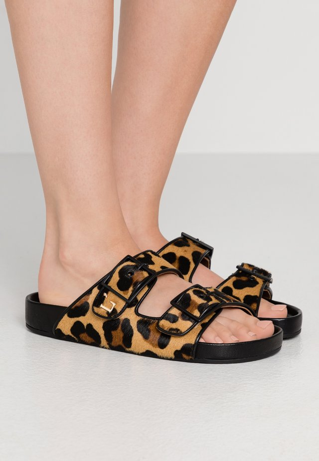 FLAT - Sandaler - camel/black