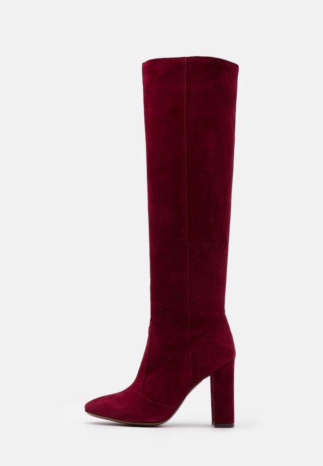 BOOT - Højhælede støvler - burgundy
