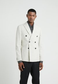 Lab Pal Zileri - DOUBLE BREASTED BLAZER - Giacca - beige - 0
