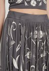 Lace & Beads Tall - KNIGHTLY SKIRT - Gonna a pieghe - dark grey