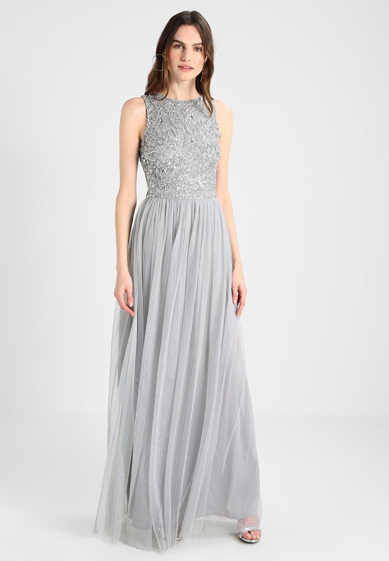 Lace & Beads Tall - PICASSO LEAF MAXI - Suknia balowa - grey