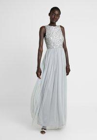 Lace & Beads Tall - PICASSO MAXI - Společenské šaty - grey - 0