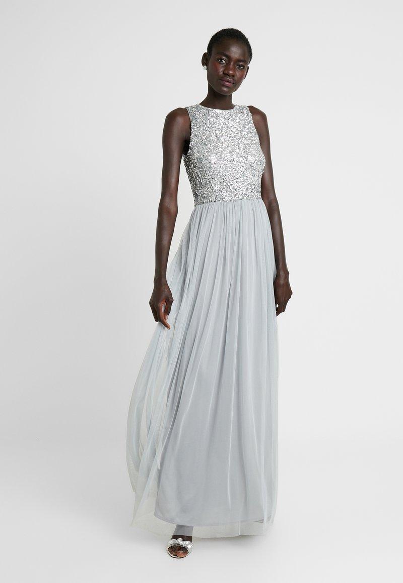Lace & Beads Tall - PICASSO MAXI - Společenské šaty - grey