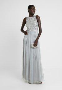 Lace & Beads Tall - PICASSO MAXI - Společenské šaty - grey - 2