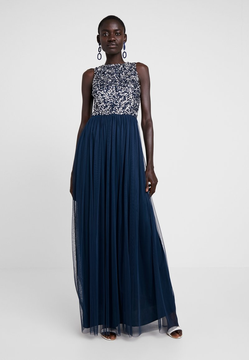 Lace & Beads Tall - PICASSO MAXI - Occasion wear - navy