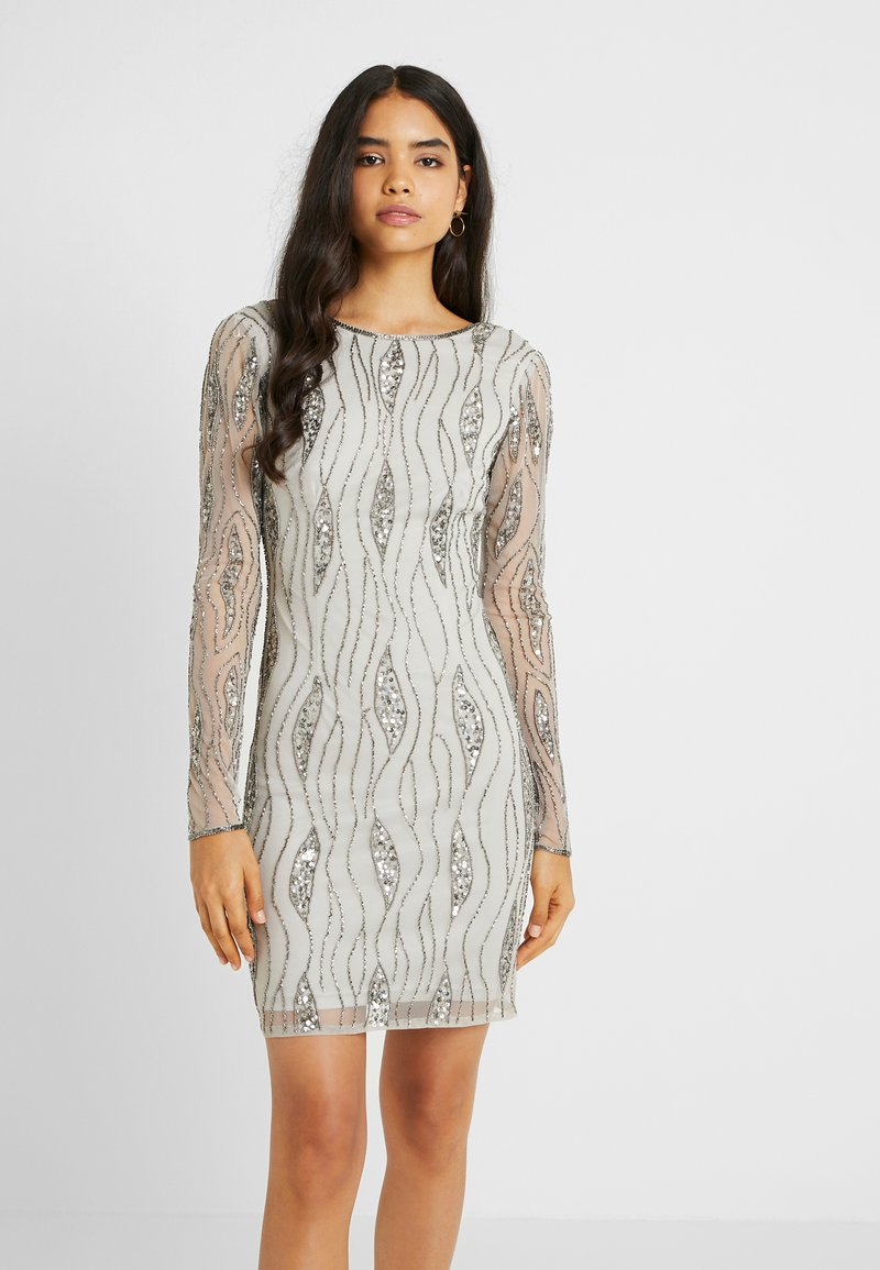Lace & Beads Tall - BROOKLYN DRESS - Cocktail dress / Party dress - grey