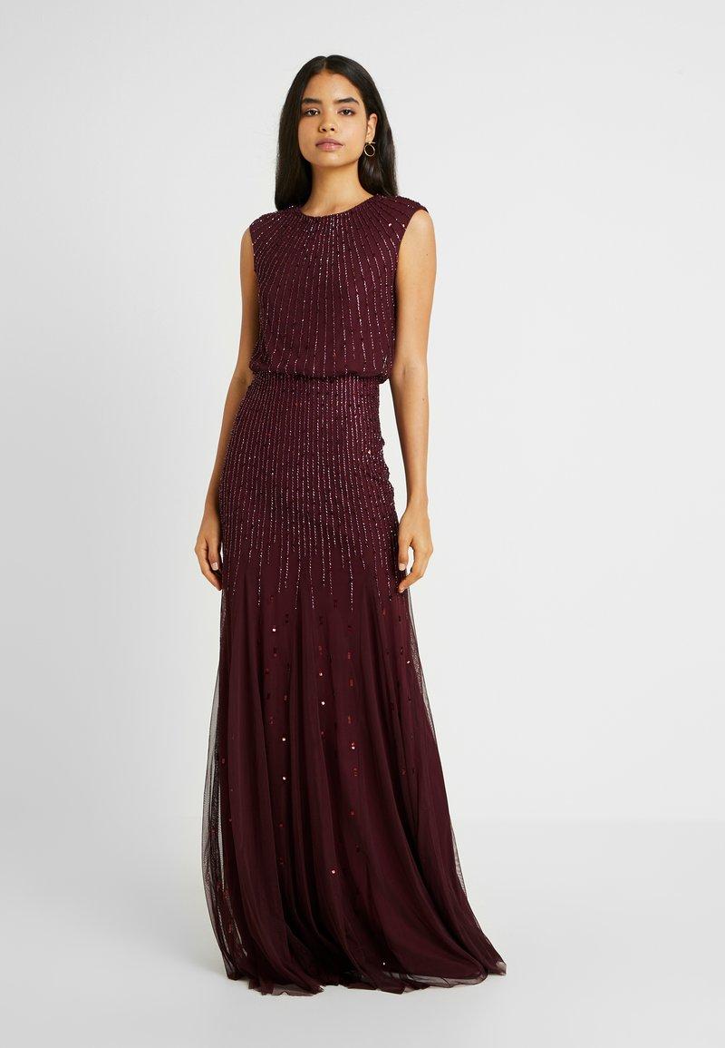 Lace & Beads Tall - NEW MAJE MAXI - Společenské šaty - burgundy