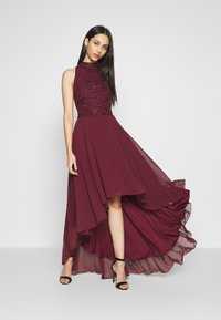 Lace & Beads Tall - AVERY HIGH LOW DRESS - Occasion wear - burdungy - 1