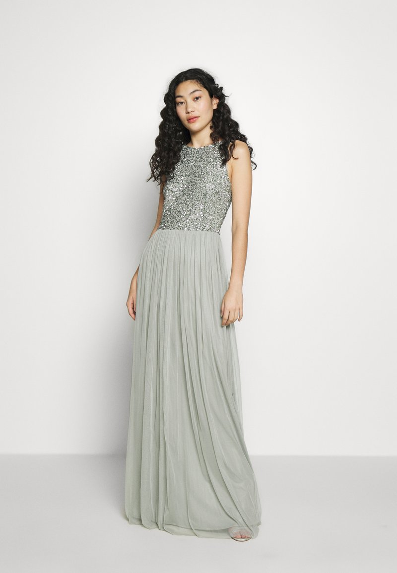 Lace & Beads Tall - BEATRICE MAXI  - Iltapuku - sage