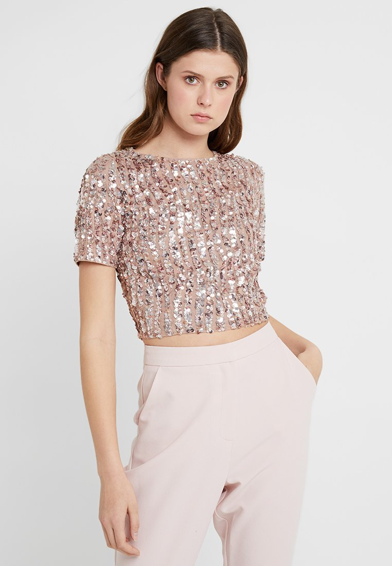Lace & Beads Tall - LETTY - Bluse - mink