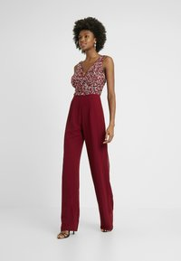 Lace & Beads Tall - PICASSO DEEP V - Jumpsuit - fiery red - 1
