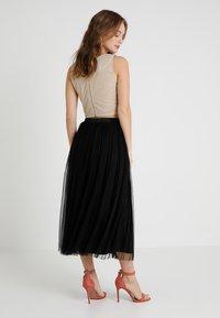 Lace & Beads Petite - VAL SKIRT - Maxi sukně - black - 2