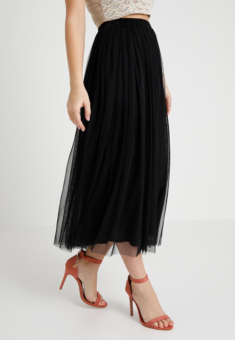 Lace & Beads Petite - VAL SKIRT - Maxi sukně - black